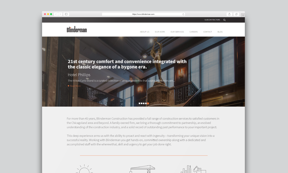 Blinderman Construction Website Design