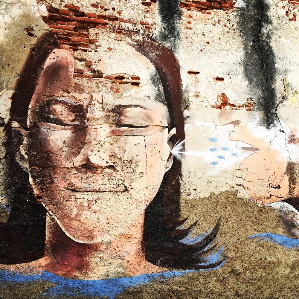 Graffiti art in the Getsemani neighborhood of Cartagena