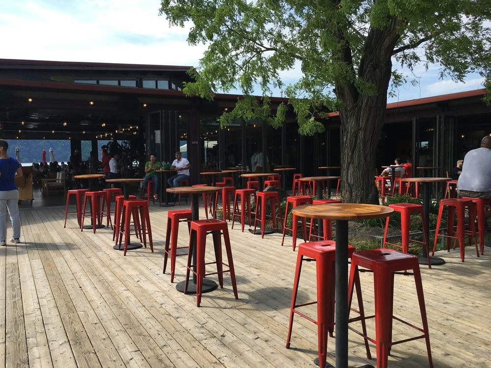 Great space to kick back for drinks under the sunny skies
