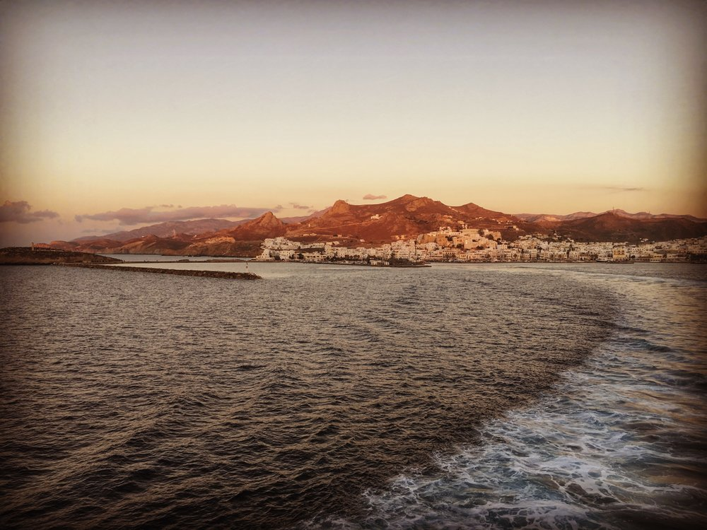 Zooming away towards Paros