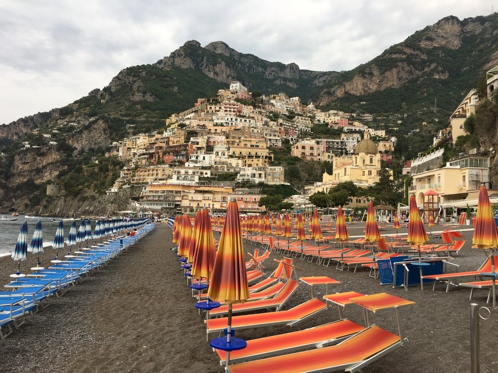 Spagio Beach, the main beach in Positano