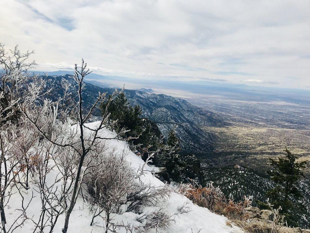 View of Albuquerque, NM from Sandia Peak.