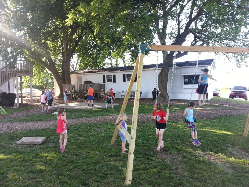 The swings were in constant use!