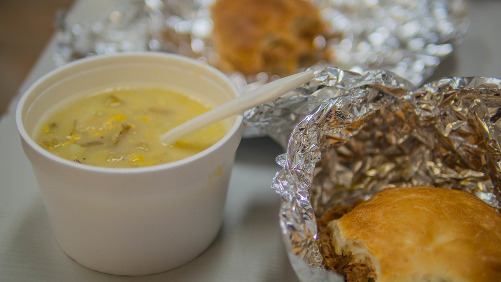 Corn chowder and bunwiches from I Like Cake.