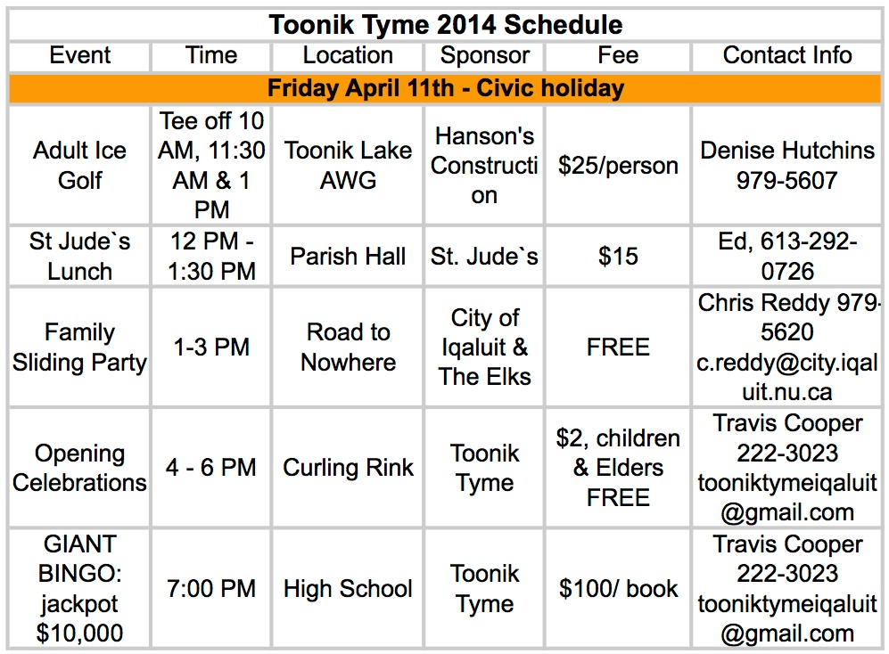 Toonik Tyme Friday