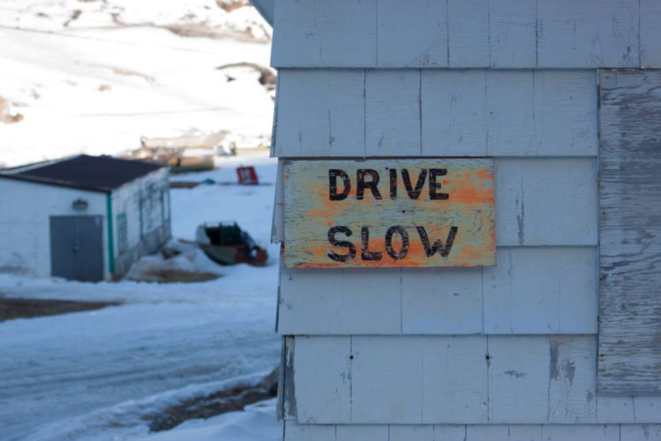 Iqaluit to Kimmirut. Cautionary sign. Photo by Taha Tabish.