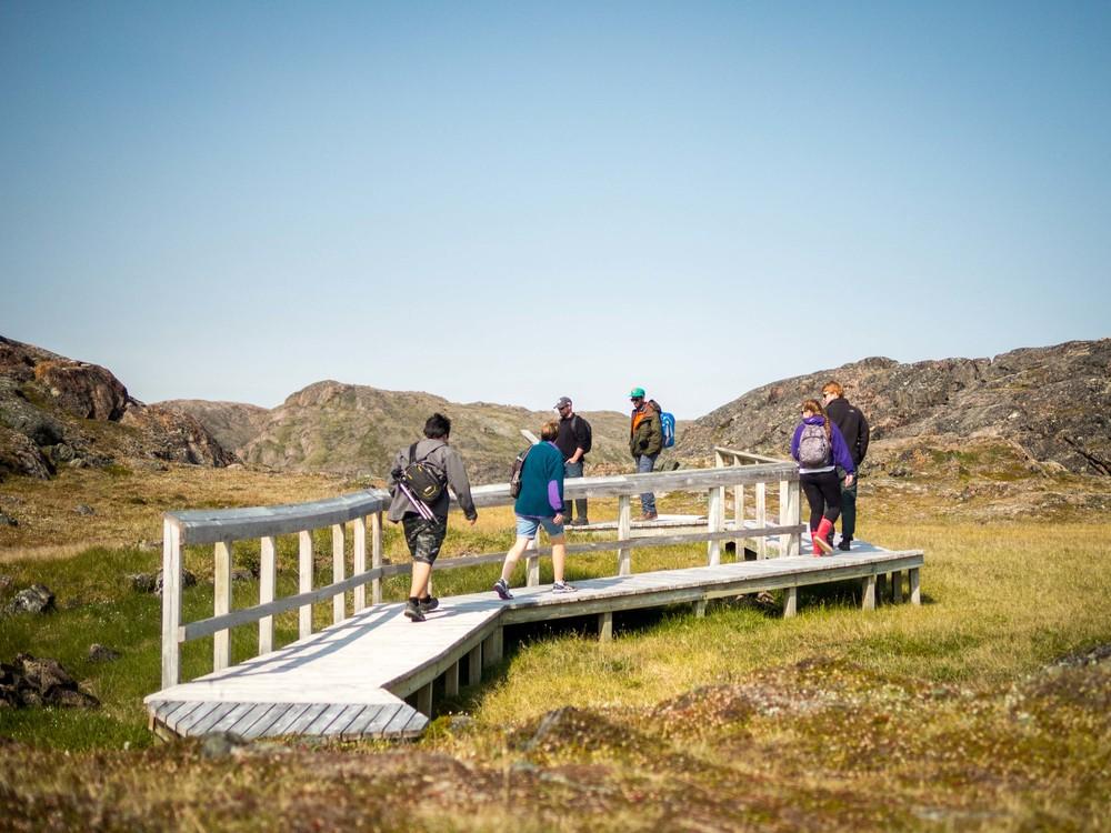 Qaummaarviit Territorial Park boardwalk.