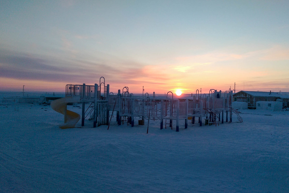 With Igloolik situated above the Arctic Circle, the community doesn't see the sun for part of the winter. Here is the first sunrise of 2015, which occurred on January 15. Photo by Denis Thibeault.