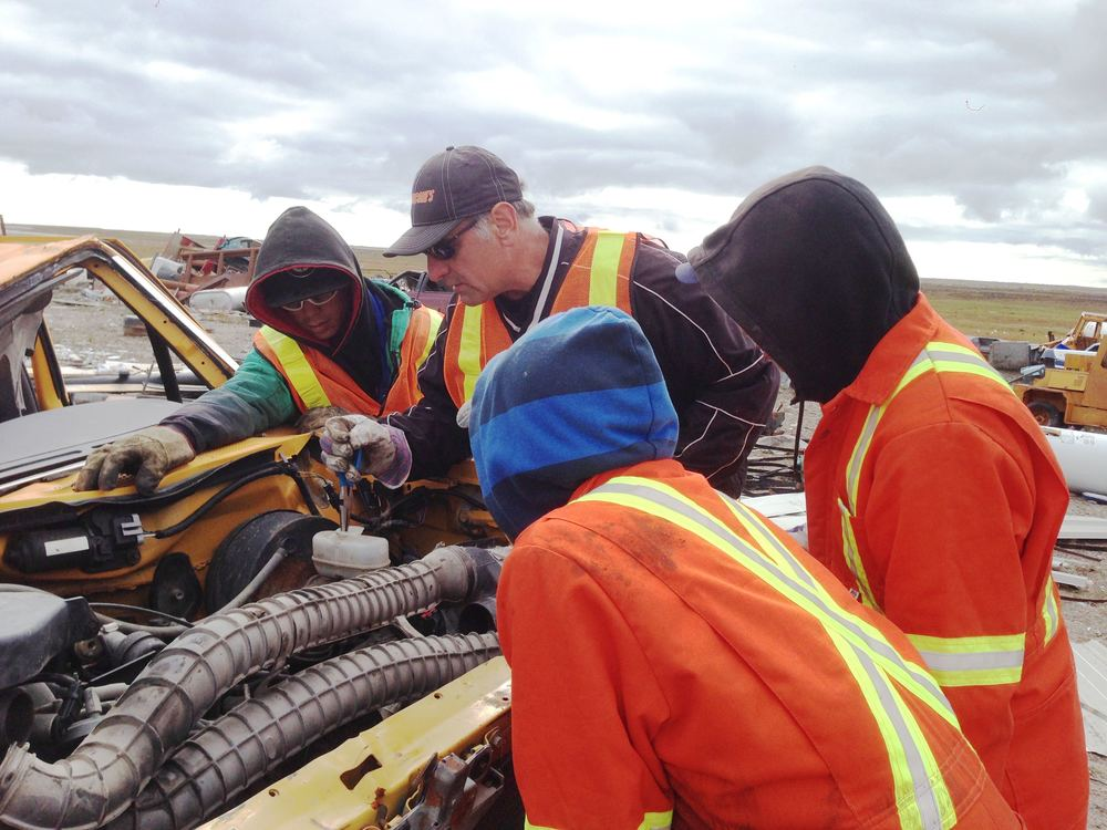 Hands-on training in Arviat, August 2014. Photo courtesy of Tundra Take-Back.