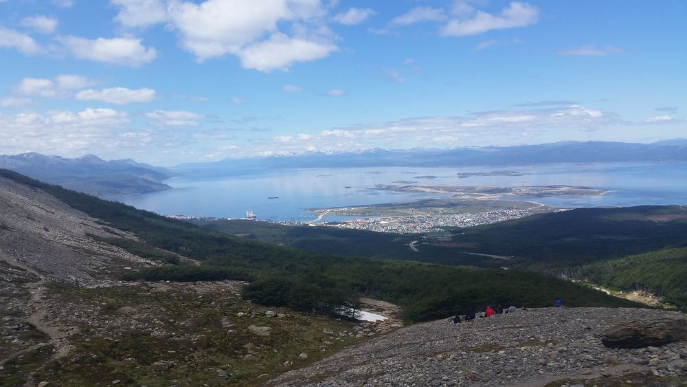 View from the top of a mountain outside of the world's most southern city: Ushaia, Argentina.