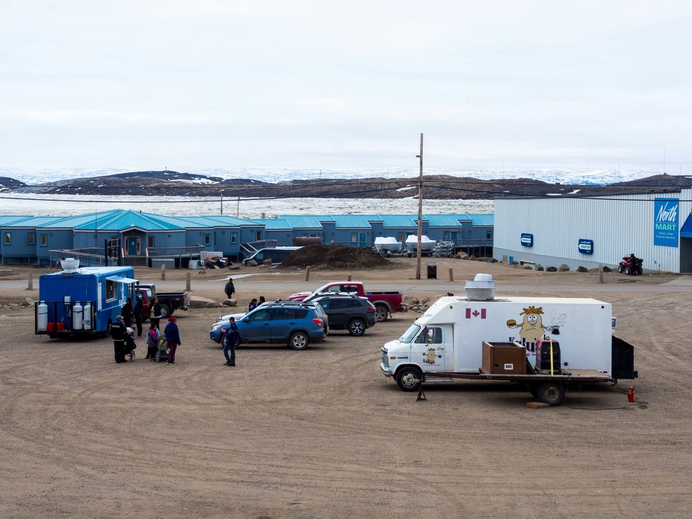 Nanook Express and Kulu's at Iqaluit's food truck park.