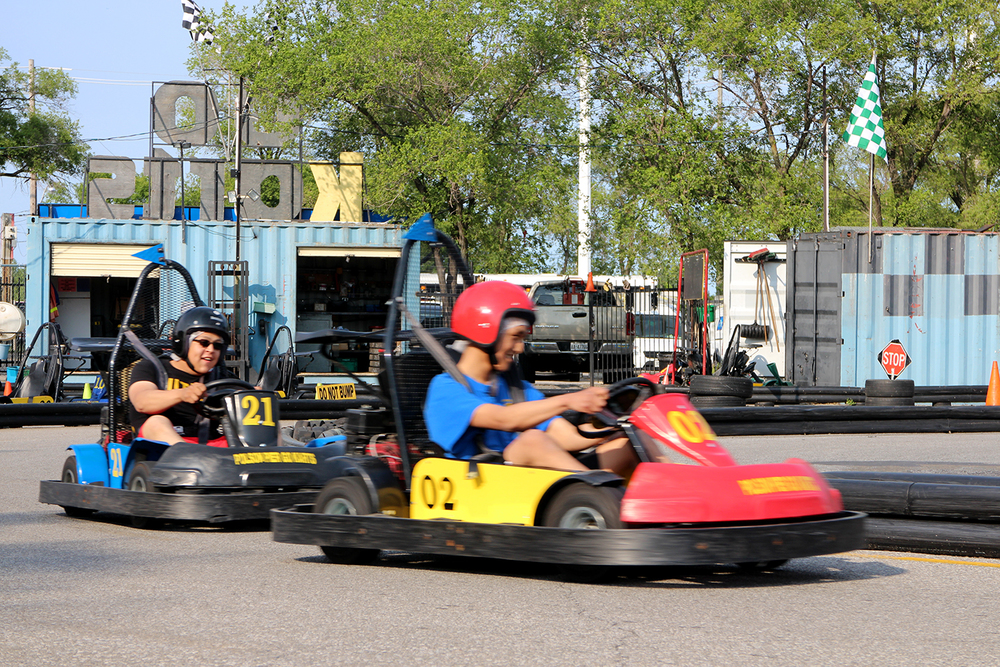 Go karting in Toronto, Cherry Beach. Photo by Alexa Hatanaka
