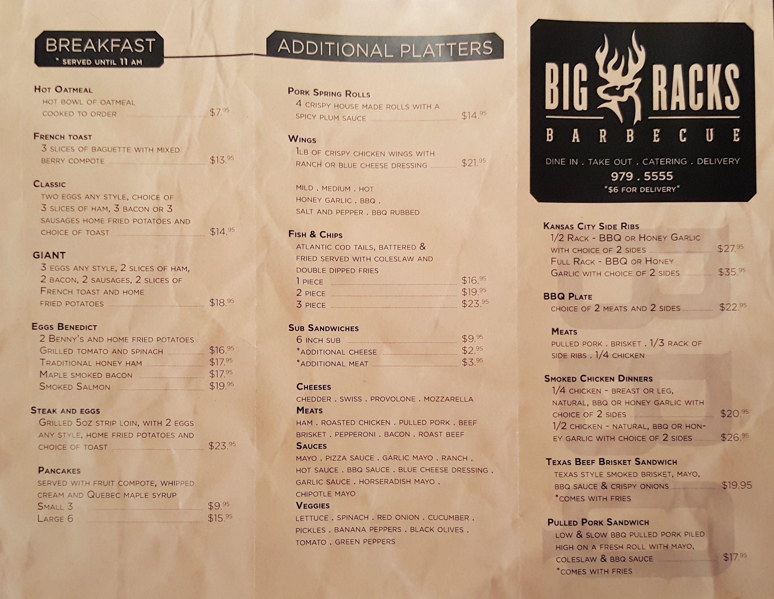 First Taste Big Racks Barbecue Iqaluit Menu And Review