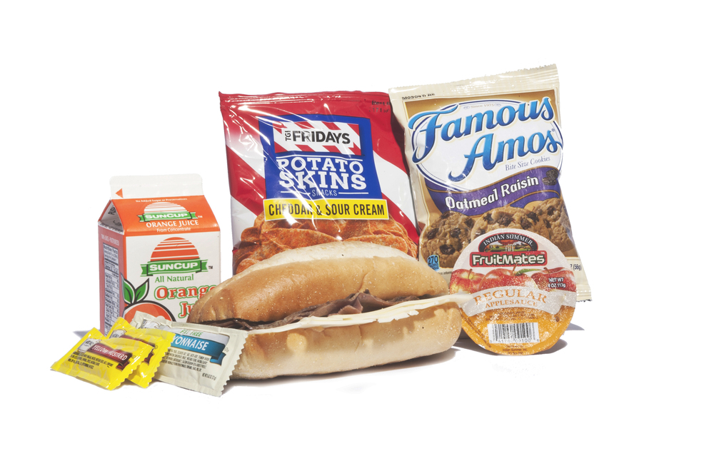 FK05 - Lunch / Dinner  Roast Beef & Swiss on Sub Bun Potato Skins Sour Cream & Cheddar Applesauce Cup Oatmeal Raisin Cookie Juice Orange Mayonnaise Packet 1 per Mustard Packet 2 per Cutlery Kit/Towelette  No NAPA#