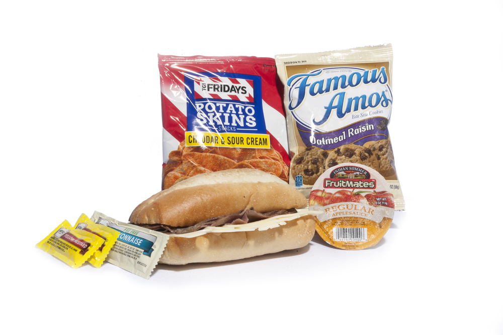 FK05ND - Lunch/Dinner   Roast Beef and Swiss on Sub Bun Potato Skins – Sour Cream & Cheddar Applesauce Cup Oatmeal Raisin Cookies Mayo Packet (1) Mustard Packet (2) Mint Cutlery Kit  Moist Towelette  NAPA#: 8940-01-E61-9558