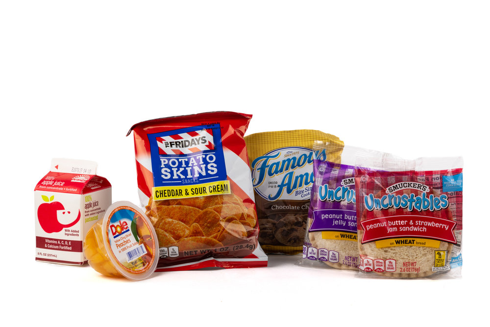 FKMK03- Peanut Butter & Jelly Sandwich - Frozen  Sandwich Peanut Butter & Grape Jelly Sandwich Peanut Butter & Straw Jam Frozen Apple Juice Diced Peach Cup Chip Potato TGIF Cheddar Sour Cream Cookie Choc Chip Famous Amos Candy Mint Starlight Spearmint