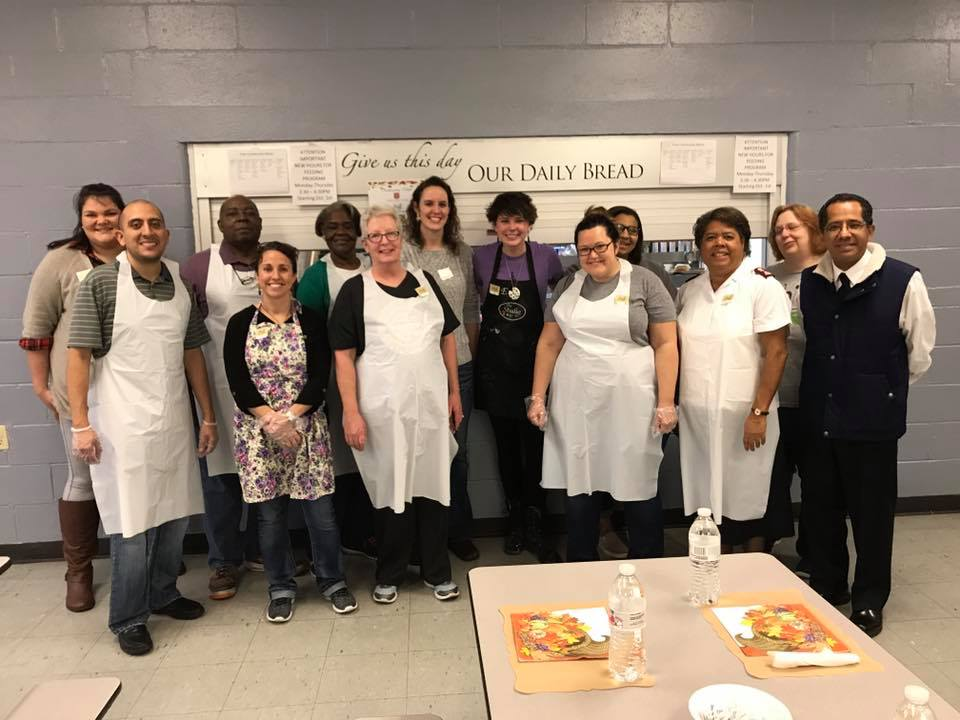 Thanksgiving crew at the Salvation Army