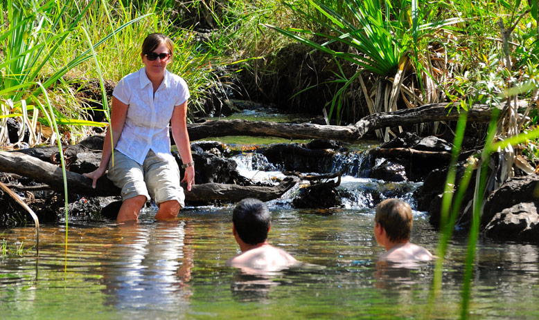 Australia_WA_Kimberley_Mitchell Falls Wilderness Lodge_People swimming in Camp Creek_APT_Plateau42_LLR.jpg
