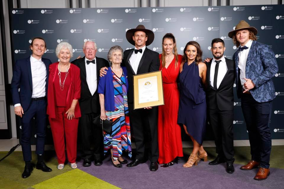 Sunday Times - November 2018 - Kimberley Spirit guide Scott Connell has won the prestigious 'FACET Golden Guide Award' at the Western Australian Tourism Awards, held at Perth's Crown Casino. On this night of nights, Scott was joined by friends and family to celebrate this career (and life) highlight. Since 1998, one guide per year is chosen from Western Australia to receive this honour. The aim of the award is to recognise individual excellence in tour guiding and to raise the profile of this important profession. Congrats, Scotty!