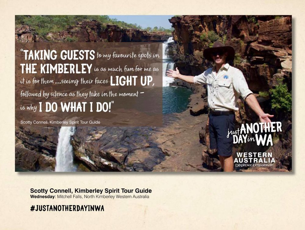 Scotty Connell - official Ambassador for Tourism Western Australia