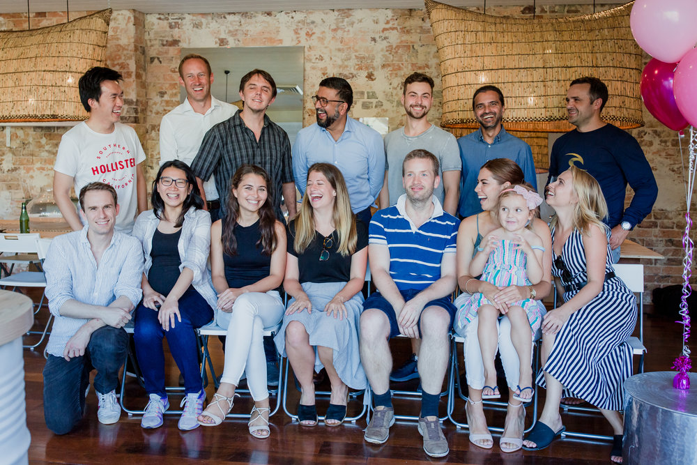 A family shot of the Beam Wallet Sydney team.