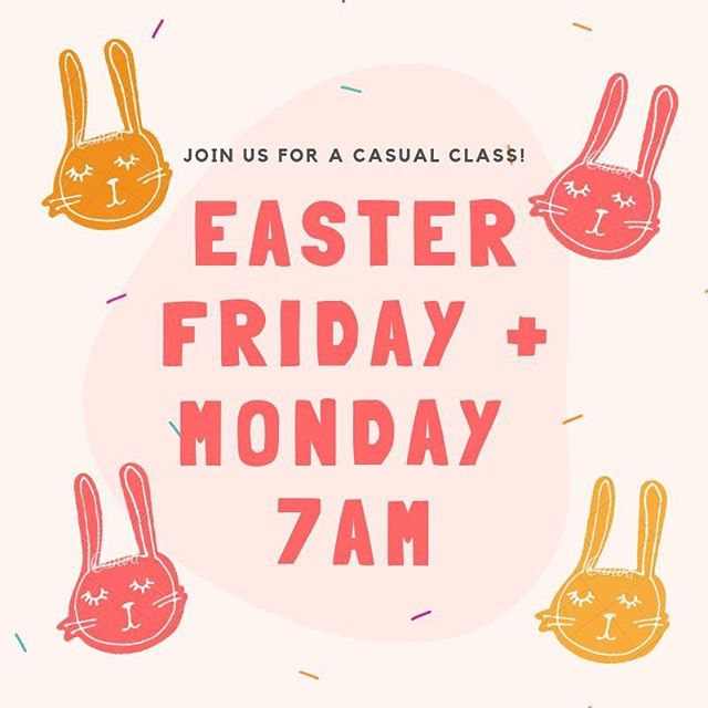 ✨HAVE A HOPPY EASTER WITH US!✨ Been thinking of coming along to a class but haven't found the time yet? Come along for a casual class over Easter.  We have two over the break: Good Friday + Easter Monday at 7AM.  SWEAT off the CHOCOLATE and RELAX over the break knowing we have you sorted to stay on track while still indulging. WIN WIN! 🍫 🐰  Garden Gully Reserve, Bendigo. To book simply text Hayley on 0438 563 472 and let me know you'll be popping into a class.