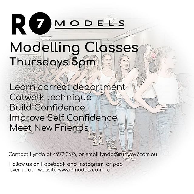 We are a Gladstone based Training Agency, teaching our models all aspects of modelling.  Www.r7models.com.au  #r7model #BuildingConfidenceinourYouth
