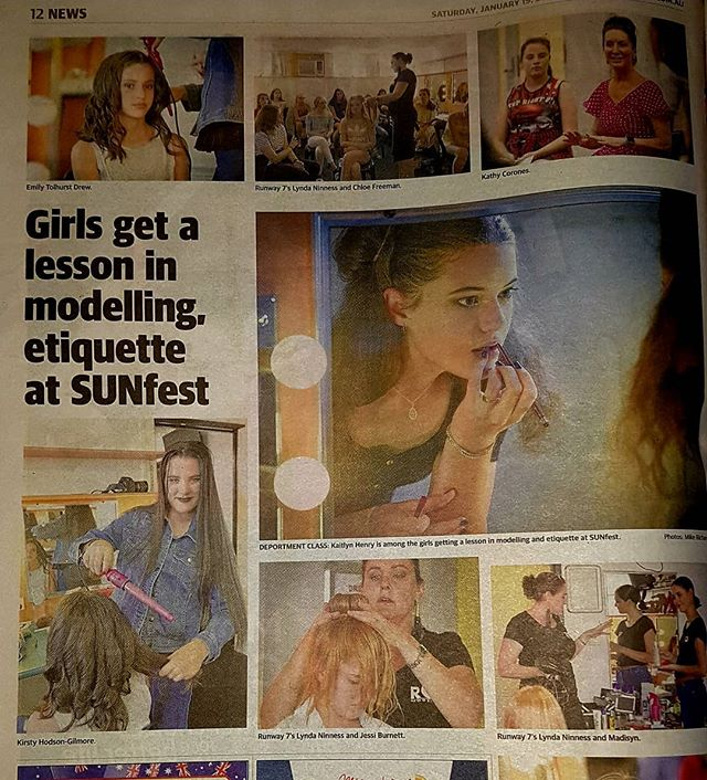 An article from the Gladstone Observer. They came along to check out what the girls were learning at the Sunfest Deportment and Modelling workshop.  #r7model #r7 #sunfest #gladstoneregion
