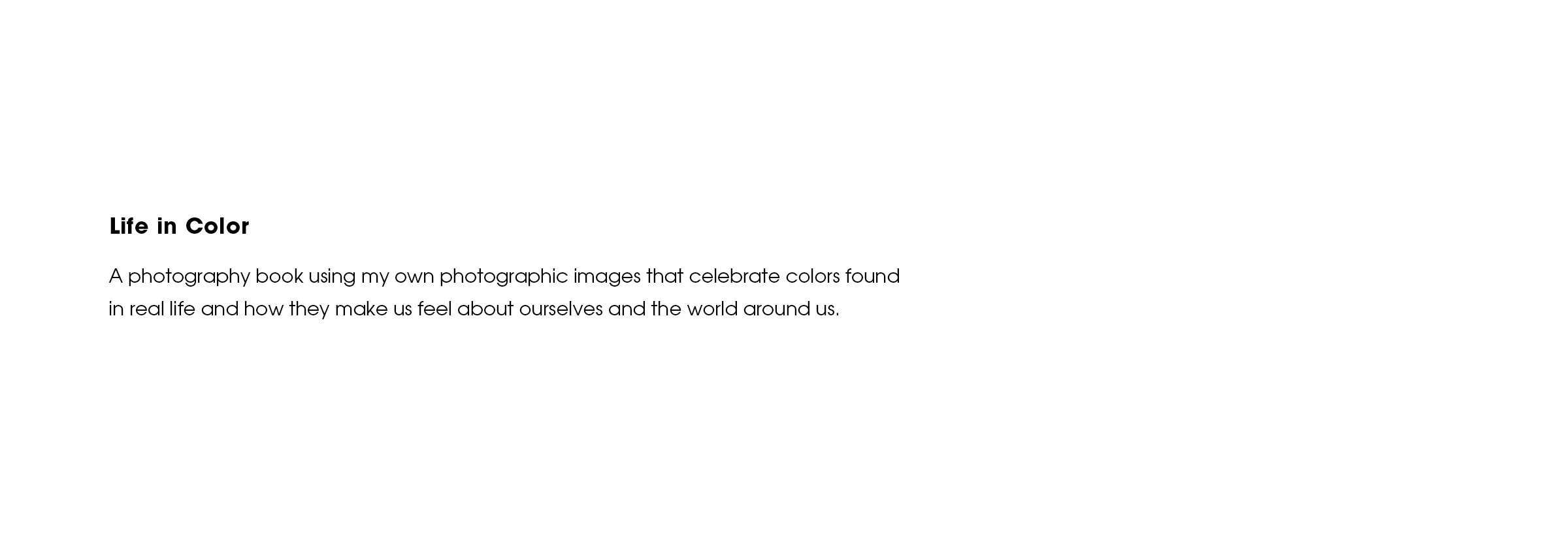 Life in Color — Hiewon Sohn