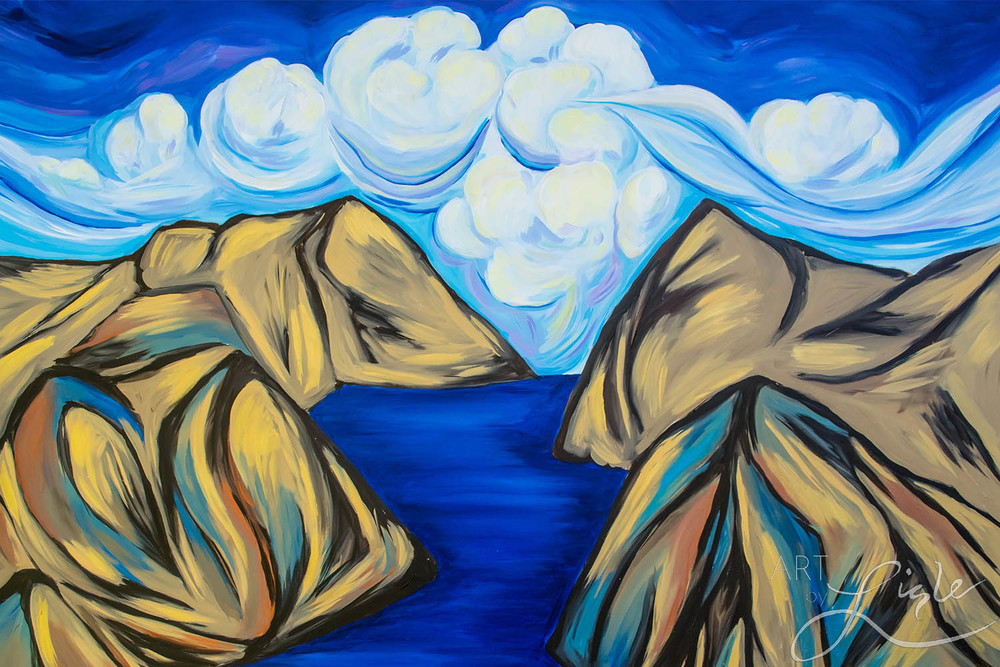 """a new way forward"" based on ezekiel 37 & isaiah 14 painted live at Next church national gathering, atlanta, ga february 2016"