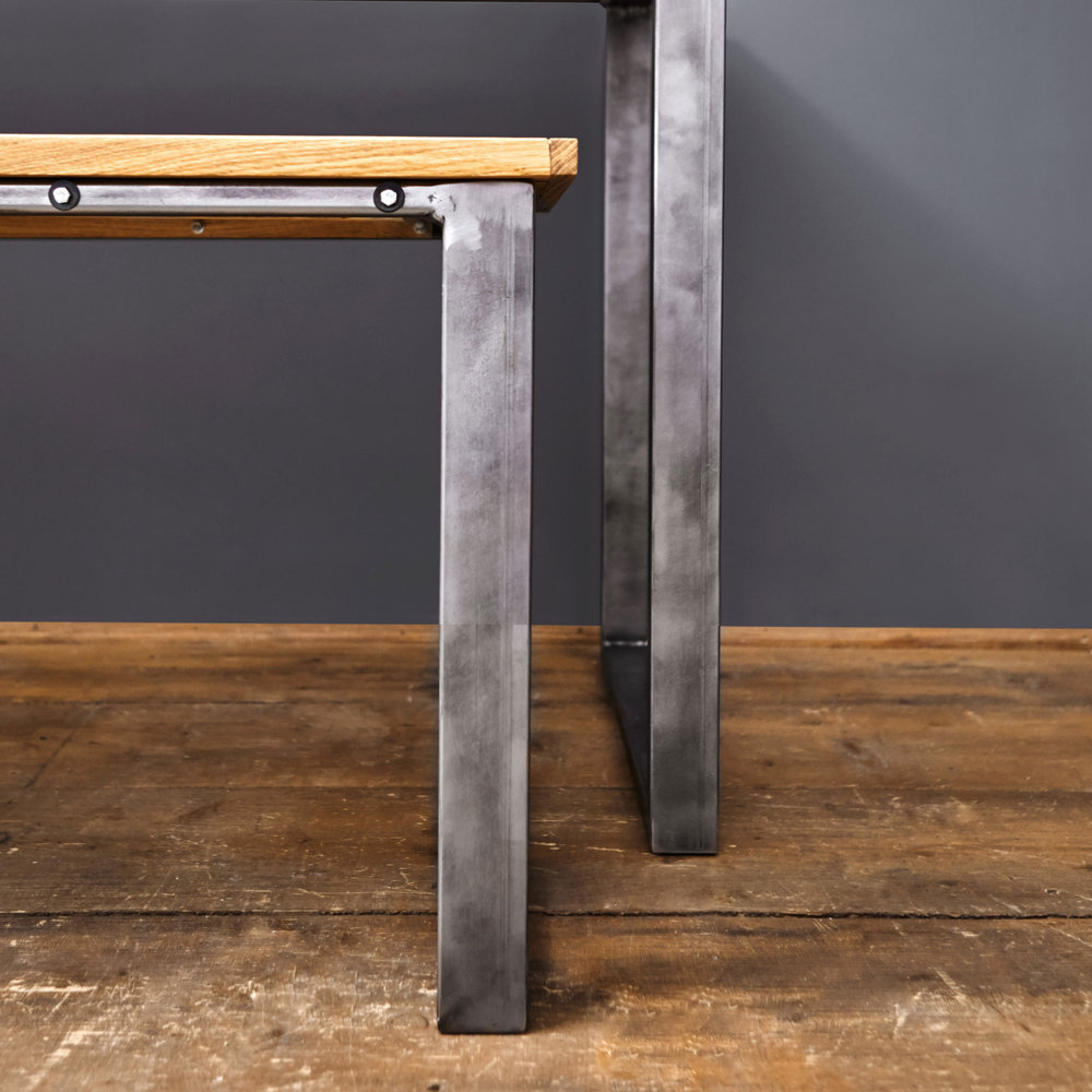 The table pictured is DESK size, and measures (in centimetres):  W: 125. D: 57. H: 75.  Other suggested table sizes:   6/8 Person: W: 160. D: 90.  8/10 Person: W: 235. D: 100.