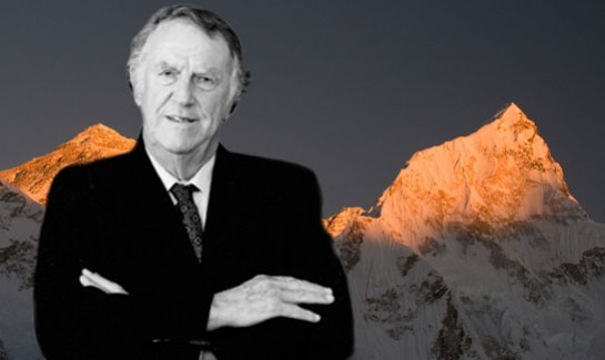 Sir Edmund Hillary, the inspiration behind the Institute