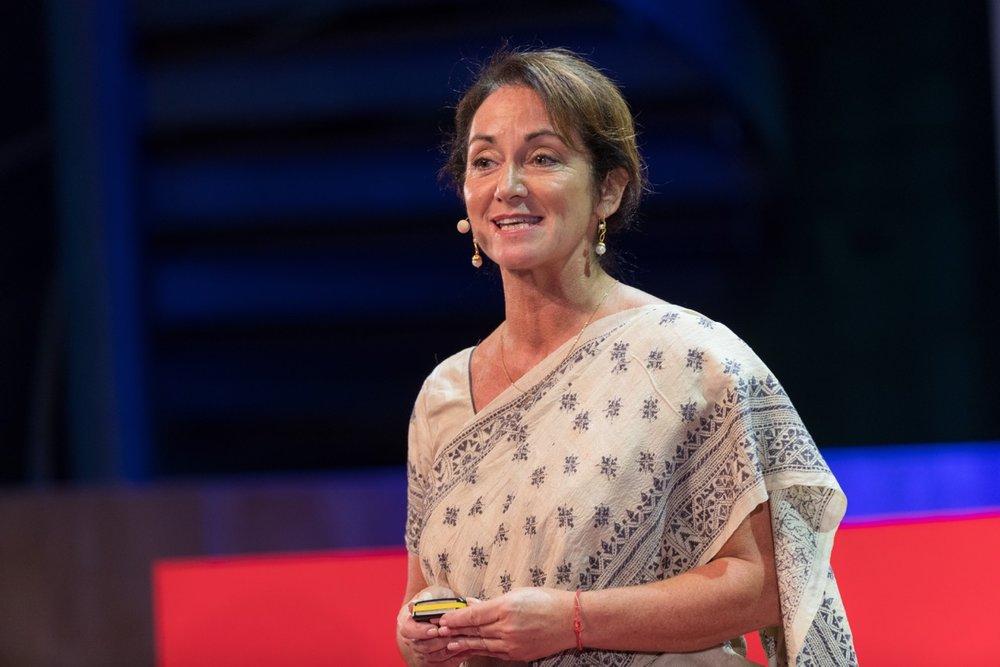 Meagan Fallone, CEO of Barefoot College International and the 2018 Hillary Laureate. Image:  TED Blog