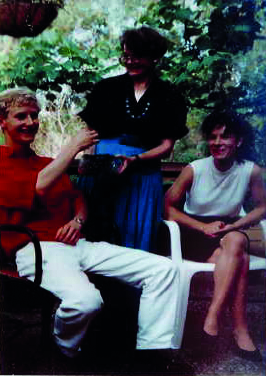 Simon aged 19 with friends in Mt Waverly. Image courtesy of Val.