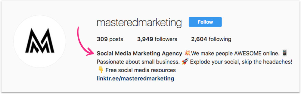 I included the keyword ' Social Media Marketing agency ' because more people will search for that then my exact business name.