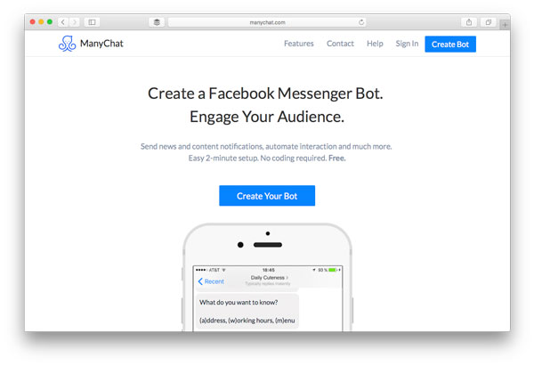manychat messenger bot