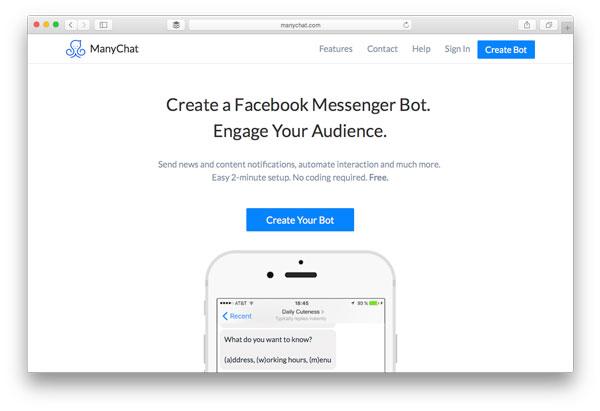manychat messenger bot