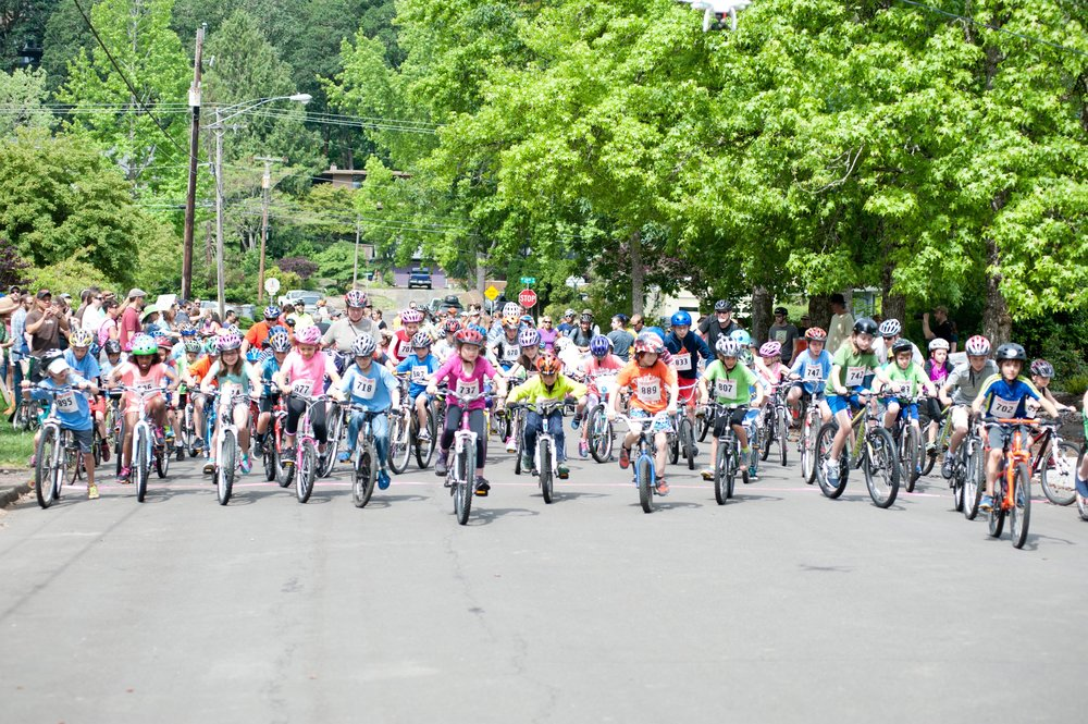 The Starting Line. In 2016, a record 281 kids registered to ride. The Road Ride is open to kids 12 and younger and requires paid registration (scholarships available). The Cycle Fair is free and open to the public.