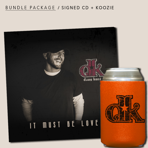 Bundle Package: Signed CD + Koozie: $12.00