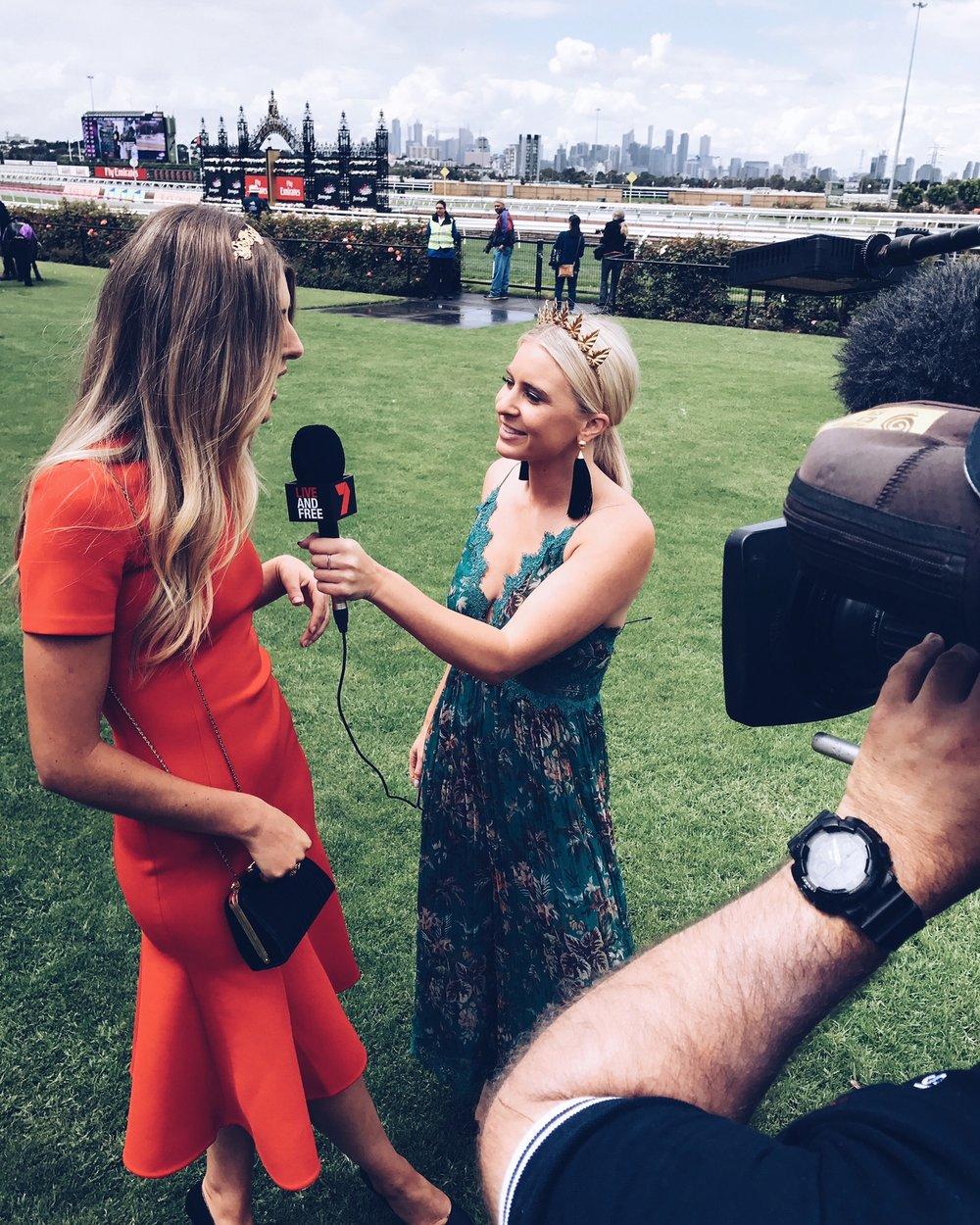 BTS Channel 7 Reporter Emma Davenport - Melbourne Spring Racing Carnival '17