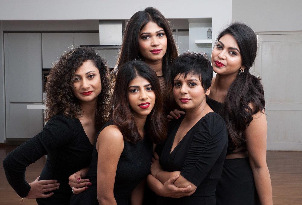 (From Left to Right) Top:Kavya Bhandary, Panna Poornima, Karishma Shetty,Bottom: Roshni Thomas, Praseeda Menon