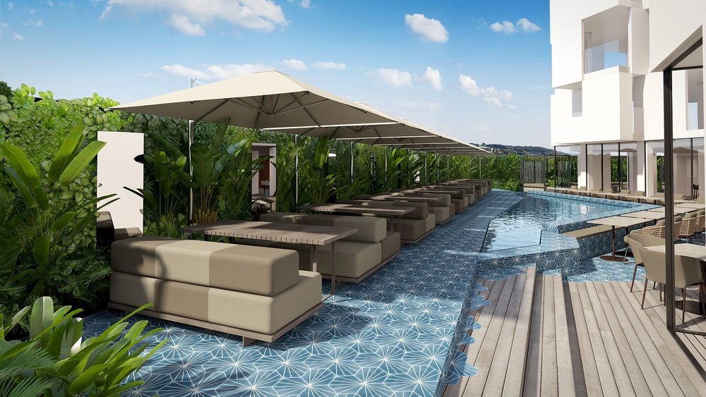 Lounge and Pool Rendering