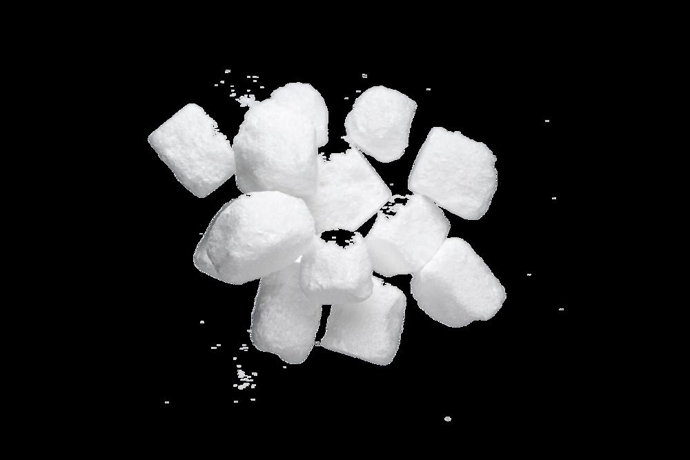 Rough Cut Cubes White