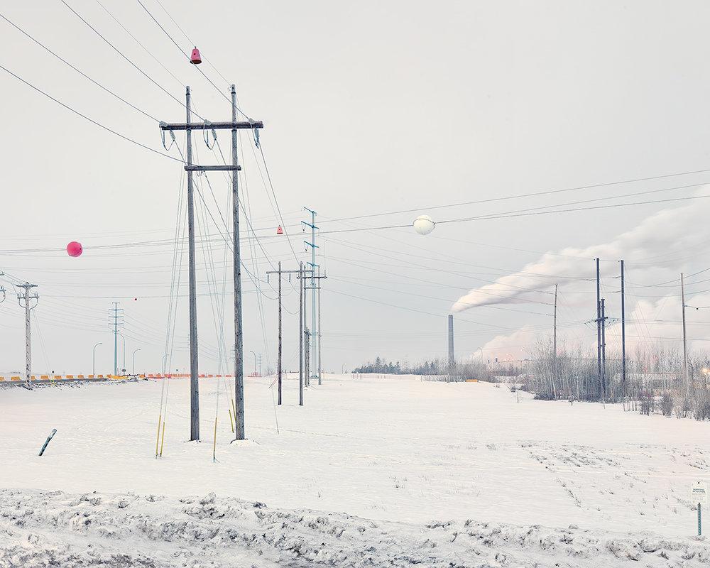 Syncrude TarSand Oil Refinery, Alberta, Canada. February 2017 © Alan McFetridge