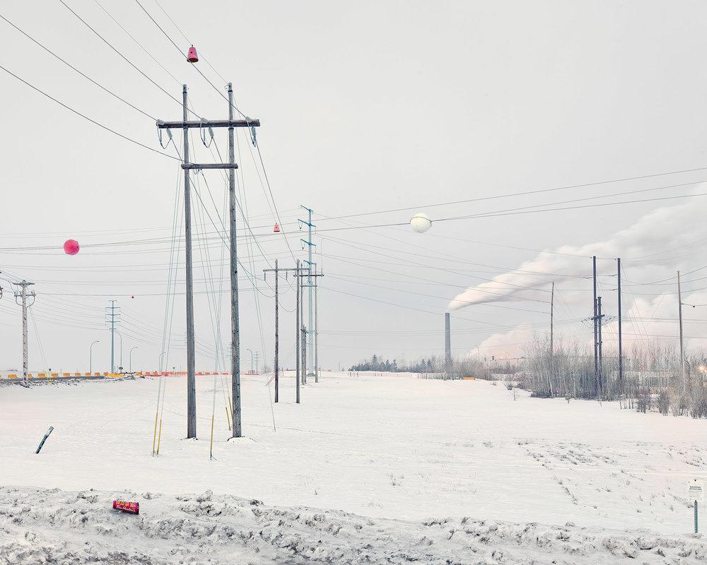 Syncrude Tar Sand Refinery, Milred Lake, Alberta, Canada. Februa