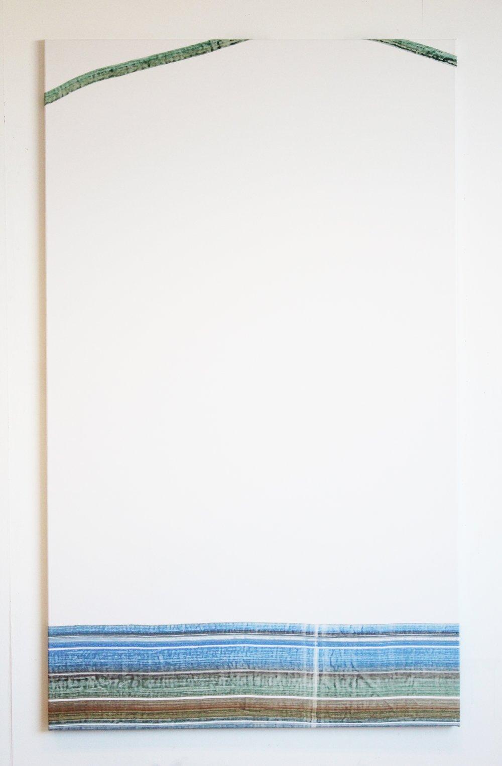 200x120 Gouache en acrylverf op doek 2017