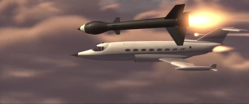 The Incredibles - plane and missile