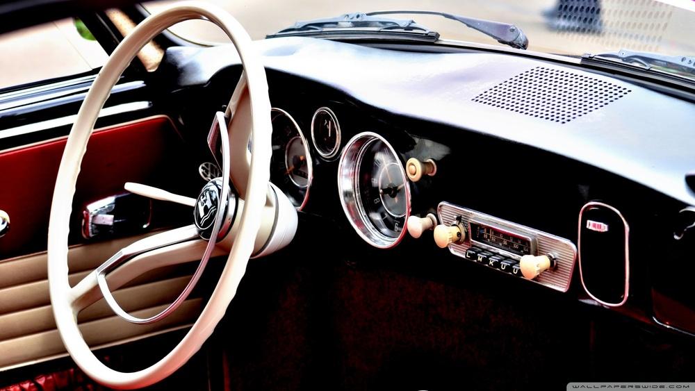 Classic Car Interior Wallpaper 1