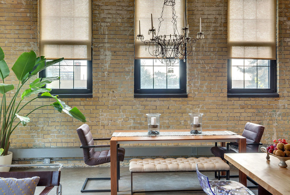 Leather Interior Design in Minneapolis. CW Lofts by Tiffany Hanken Design.