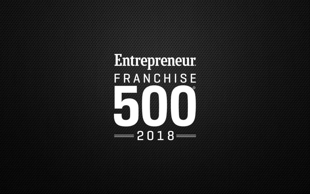 Entrepreneur Franchise 500 2018